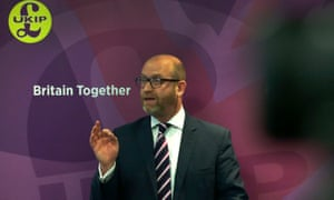 Paul Nuttall, the Ukip leader, speaking at the launch of the Ukip manifesto.