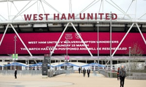 West Ham's home game with Wolves was part of the Premier League weekend programme called off on Friday.