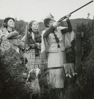 Hunting party, grouse season, Ayrshire, 1936