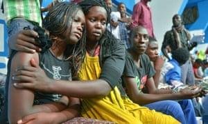 Survivor of the al-Shabaab attack on the university campus in Garissa, northern Kenya, in April 2015