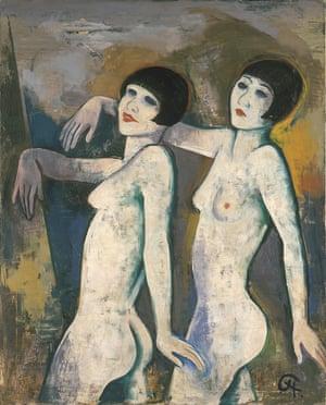 Dancers should be afforded their due … Karl Hofer's 1920s painting Tiller Girls.