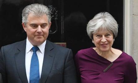 Brandon Lewis and Theresa May.