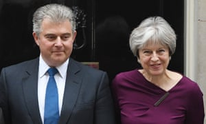 Brandon Lewis with Theresa May.