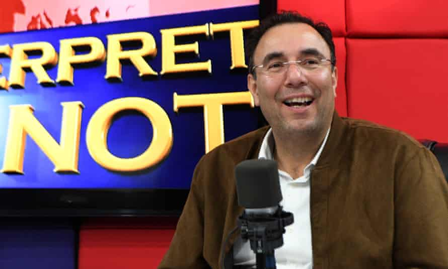 The presidential candidate of the opposition Liberal party, Luis Zelaya, takes part in a radio show.