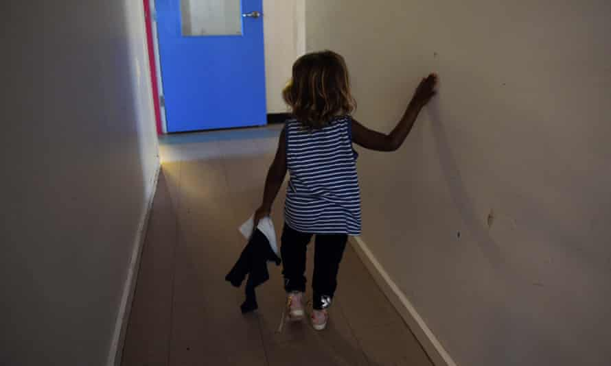 A child is seen at the Alice Springs women's shelter.