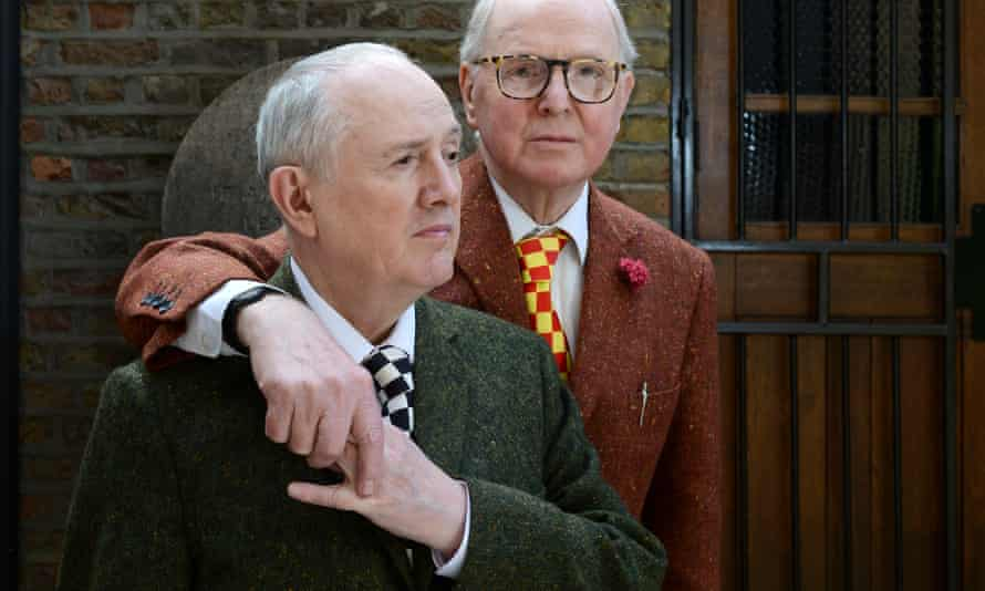 Gilbert and George in their home and studio in London.