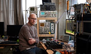 Justin Greenslade, who builds audio equipment for venues, in his studio in north London.