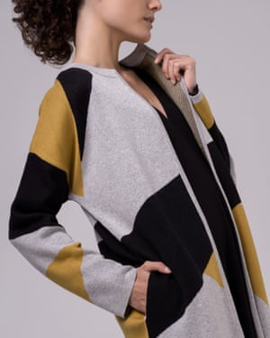 Soft touch: a cardigan by Sheer Apparel