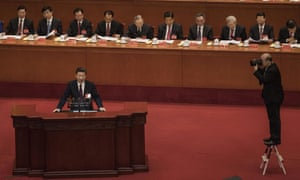 Chinese President Xi Jinping speaks at the 19th Communist party congress in Beijing