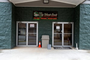Big Woods Goods Gun Range and shop, where the suspect is believed to have purchased a handgun.