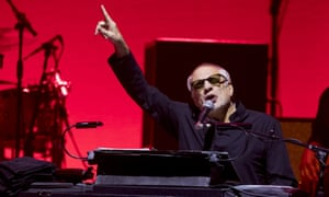 Melodica maverick … Donald Fagen on stage in Glasgow.