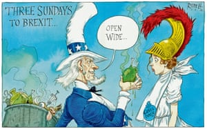 Chlorinated chicken? Uncle Sam meets Britannia.