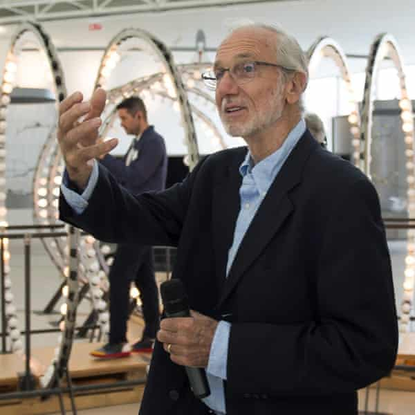 Italian architect Renzo Piano visits the Centro Botín the day before its opening.