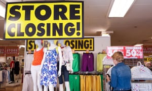 Shoppers browsing at the closing-down sale of a BHS branch in north London.