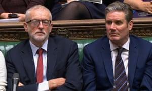 Jeremy Corbyn (left) and Keir Starmer