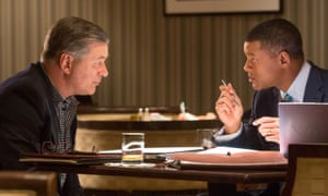 Alec Baldwin and Will Smith in Concussion.