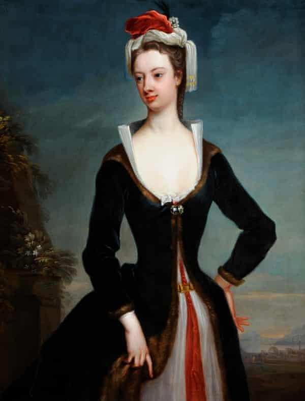 Lady Mary Wortley Montagu (1689–1762), by Jonathan Richardson the elder, c1718.H136.7 x W108.8cm