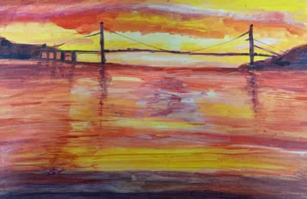 Abud Abdualmalik's Untitled (Sunset with Bridge).