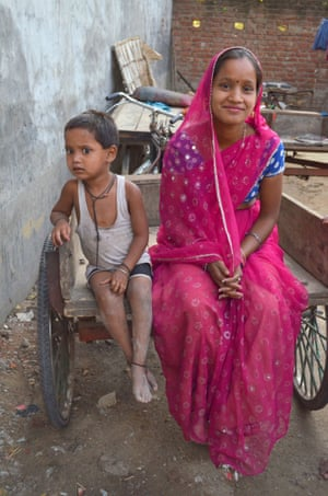 Sita Devi. She and her husband bought a trolley rickshaw through the Rickshaw Sangh programme. They use it to transport and sell vegetables.