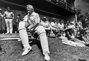 Hawke in cricket whites