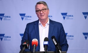 Victorian health minister Martin Foley speaks to the media during Saturday's Covid press conference