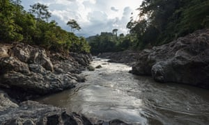 The Gualcarque river, sacred to local indigenous communities and the site of the controversial Agua Zarca dam.