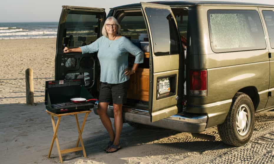 'A real stroke of luck': Laurie Nathe with the Ford Econoline she bought with a Coronavirus stimulus cheque.