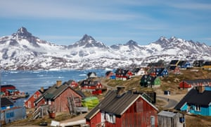The harbour and town of Tasiilaq, on Greenland's east coast.