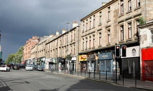 Closed businesses in the Shawlands area of Glasgow