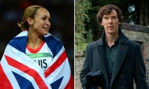 Brand leaders: Olympic winner Jessica Ennis-Hill, and Benedict Cumberbatch in Sherlock.