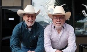 Gary Miller and Alan Pierce, who opened the Dallas Round-Up saloon.