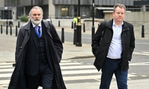 David Frost (right), the UK's chief negotiator, and Sir Tim Barrow, the UK ambassador to the EU, arriving for the latest round of UK-EU trade talks in London today. The talks are at a critical stage.