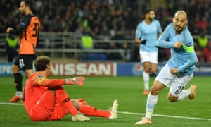 David Silva wheels away in delight after opening the scoring