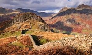 Drystone wall on Lingmoor Fell, Cumbria