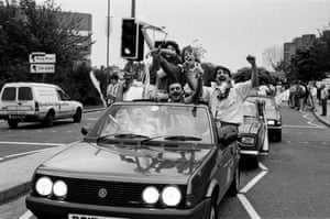 Coventry City fans celebrate the 1987 FA Cup final win over Tottenham Hotspur.