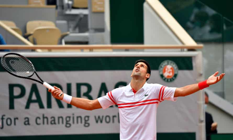 Novak Djokovic survived a scare against Lorenzo Musetti in the French Open.