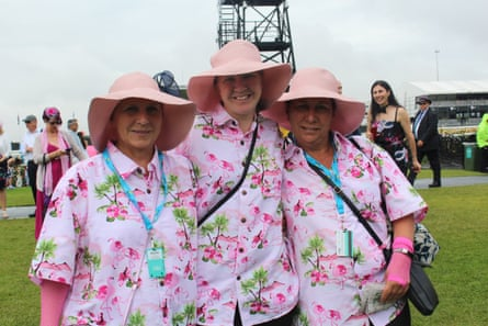 Margaret Smith travelled from Lismore to Sydney to catch a Melbourne Cup cruise ship with friends Leigha and Judy Lawlor.
