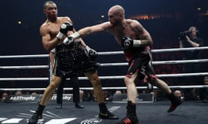 George Groves leaves Chris Eubank Jr looking stunned on his way to victory at the Manchester Arena.