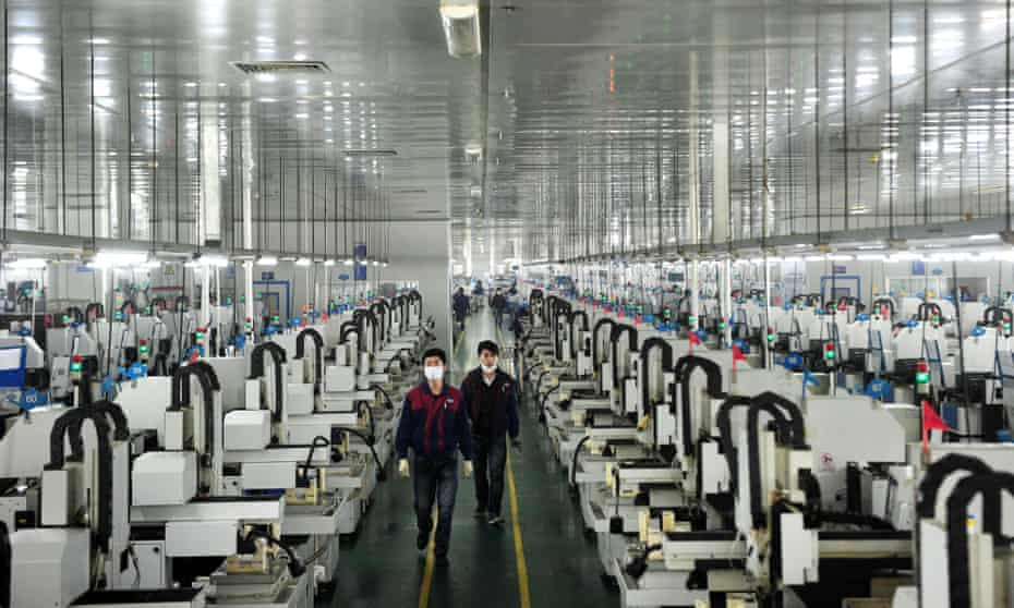 Lens Technology in Liuyang, in China's Hunan province