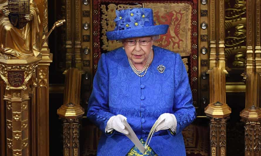 The Queen delivers her speech during the 2017 state opening of parliamen.
