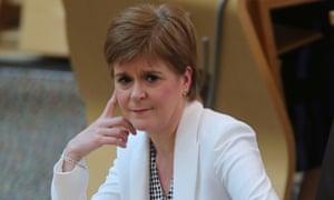 The Scottish first minister, Nicola Sturgeon.
