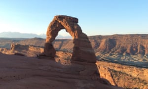 Delicate Arch at dawn.
