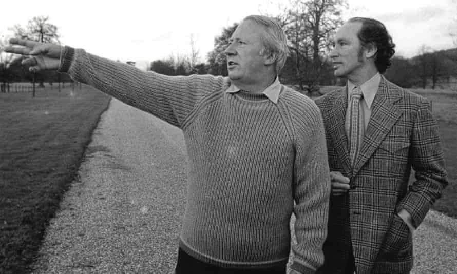 Edward Heath and Canadian PM Pierre Trudeau at Chequers in 1972
