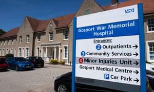 The Gosport War Memorial hospitalin Hampshire.