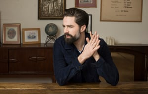 Homing instincts: Jack Guinness at his flat in east London.