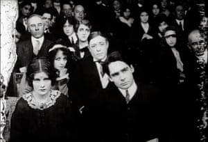 Front row … Mae Marsh and Walter Miller in DW Griffith's Brutality, 1912.