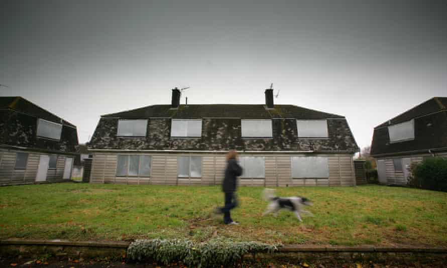 Local authority properties awaiting redevelopment near Bath