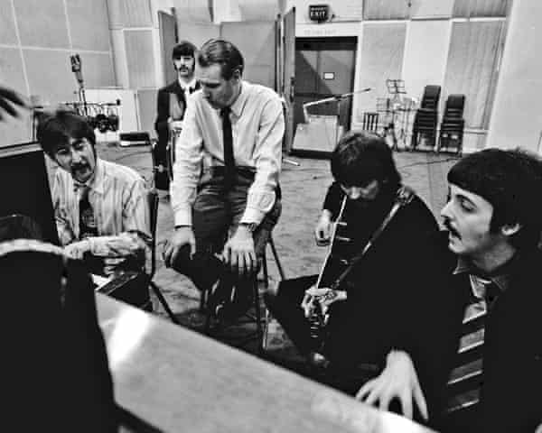 The recording of Sgt Pepper's Lonely Hearts Club Band, in the Abbey Road studio in January 1967.