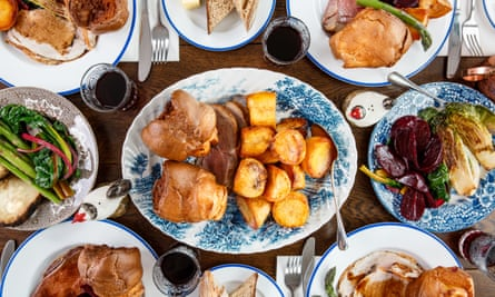 sunday lunch with roasties and yorkshires Star & Garter in Falmouth