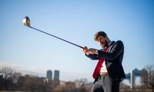 Adam Gabbatt plays golf.